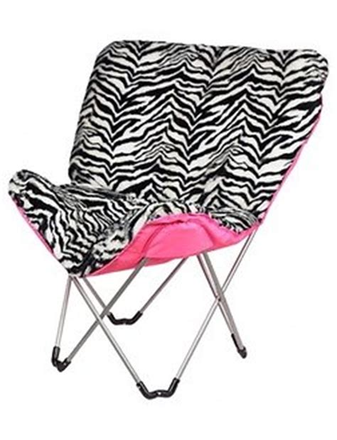 Justice Chairs - zebra butterfly chair room accessories