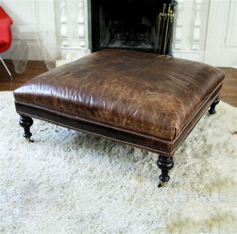 large leather ottoman 1000 ideas about leather ottoman on leather