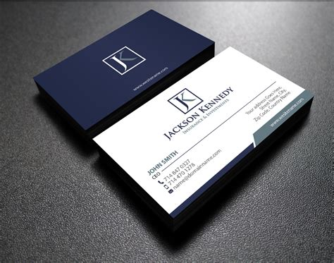 Professional Business Card Template For Insurance Broker With Photo by Serious Professional Business Card Design For Aaron