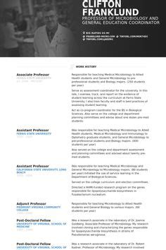 Academic Cv Exle Projects To Try Pinterest Sle Resume Cv Exles And Resume Resume Template For Professor