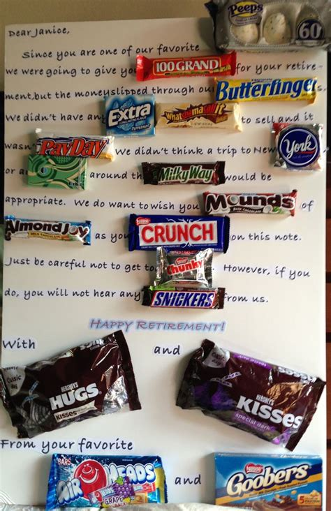funny retirement candy poster just b cause