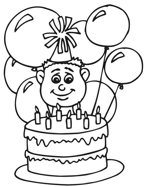 printable coloring pages birthday free printable happy birthday coloring pages for