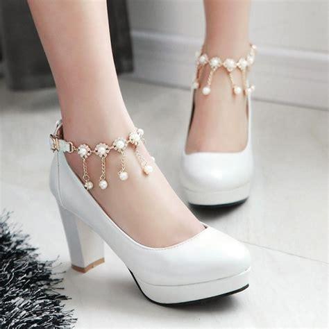 Cutie Bootie Shoes White korea sweet princess heels 183 asian kawaii clothing
