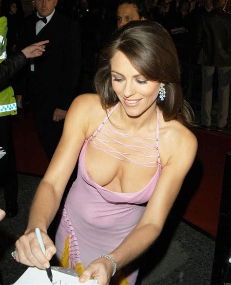 nadja model pimpandhost large image of elizabeth hurley downblouse dress at