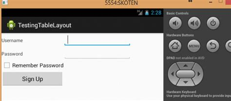 layout login android how to use tablelayout to create login screen in android