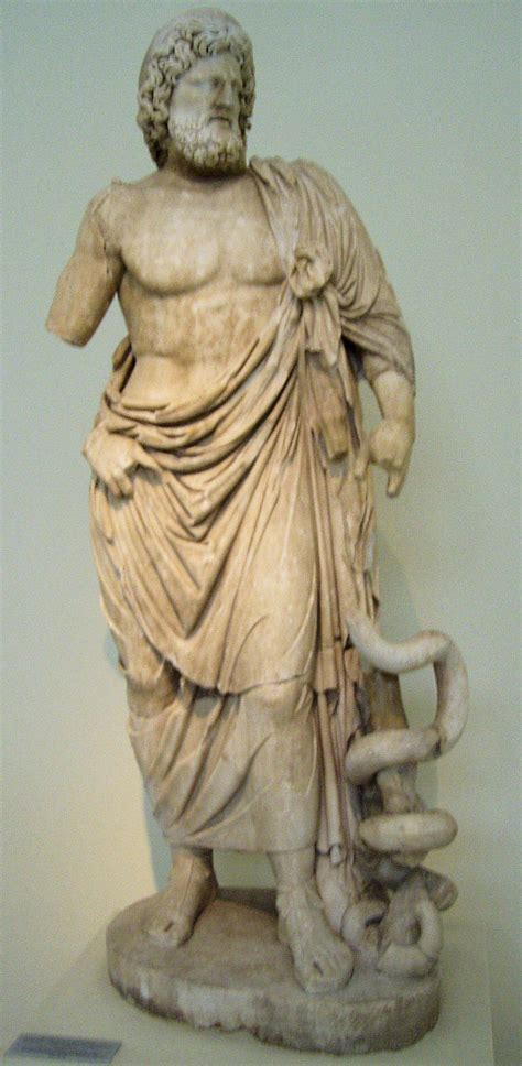 statues of gods commodus asclepius heals bull veterenarium medicine god