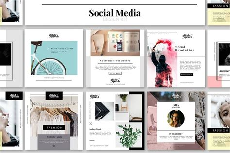 social media templates design 20 best social media kit templates graphics design shack