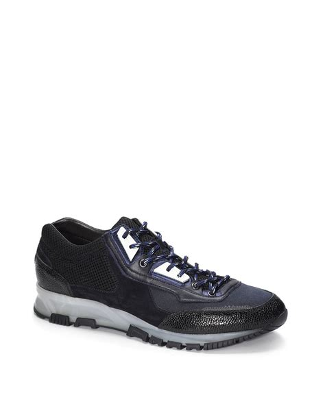 black sneakers lyst lanvin sneakers in black for