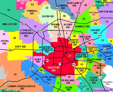 texas isd map school districts in houston map
