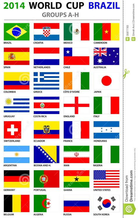 printable flags of the world cup 2014 brazil2014 world cup 世界杯 fifaworld cup 2014 第9页 点力图库