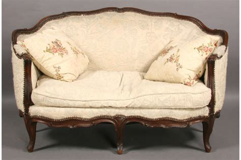 sofas and settees for sale carved walnut french louis xv settee sofa circa 1900 for