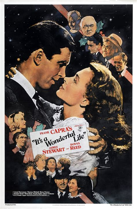 film it s impossible it s a wonderful life 1946 james stewart movie poster