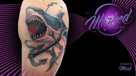 henna tattoos reno nv shark and anchor breaking chains color arm great white