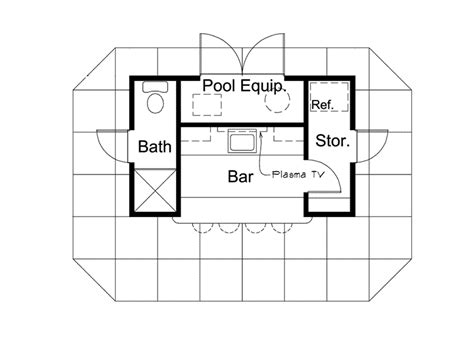 cabana floor plans coolwater pool cabana with bar plan 009d 7525 house
