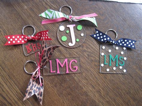 personalized initial monogram acrylic keychains craft ideas acrylic keychains monogram