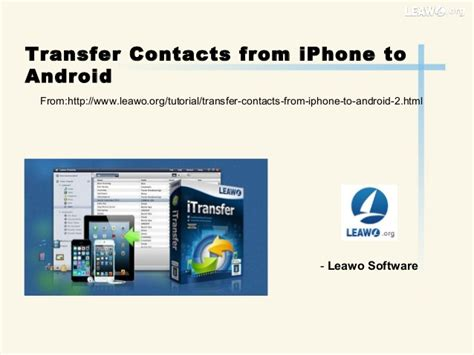 contact transfer from android to iphone transfer contacts from i phone to android