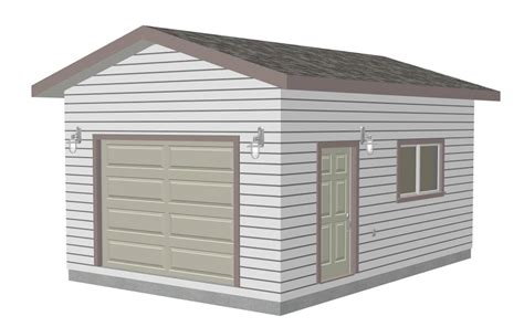 Garage Free the g443 14 x 20 x 10 garage plan garden shed plans