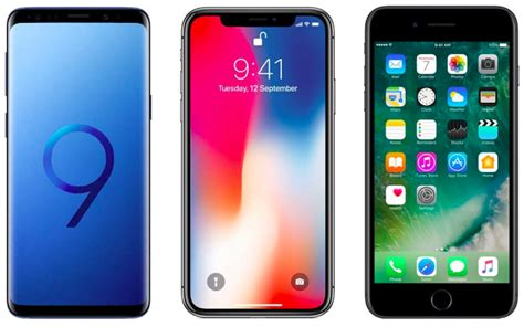 samsung galaxy s9 plus vs iphone x vs iphone 7 plus price in india features and specifications