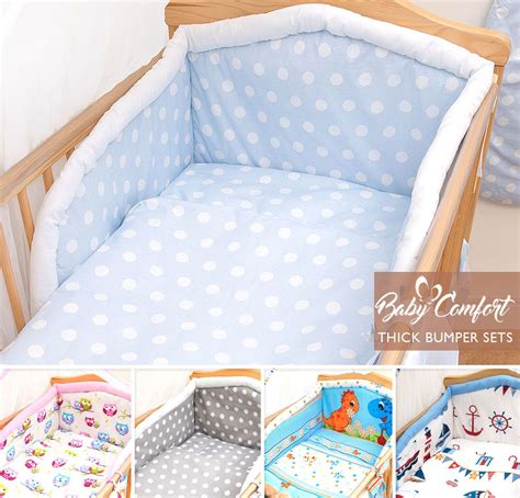 Crib Bedding Set With Bumper 5 Baby Bedding Set Pillowcase Duvet Quilt Cover Nursery Cot Bumper