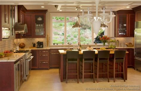 Kitchen Island Accent Color Pictures Of Kitchens Traditional Wood Cherry