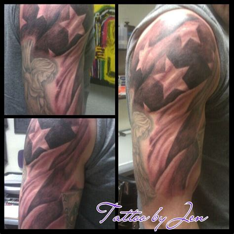 black and grey american flag tattoo black and grey american flag feel free to