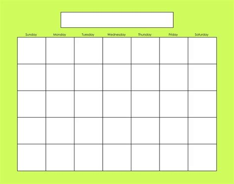 Blank Activity Calendar Template by Calendario Carson Dellosa Buscar Con Dibujos