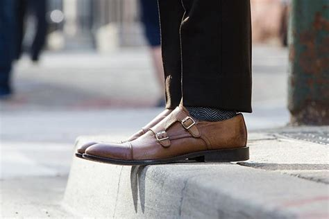 light brown monk shoes s breasted brown blazer business he
