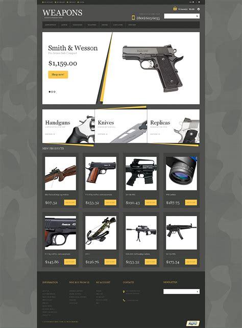 Gun Shop Responsive Magento Theme 49063 By Wt Magento Themes Gun Shop Website Template