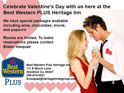 Roseville Ca Hotel S Day Package Special by Valentine S Day Package Special From Our Stockton Ca Hotel