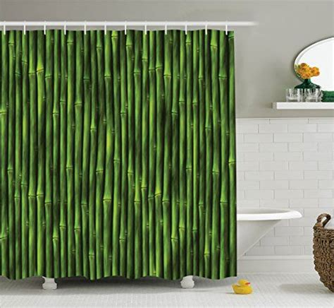 Nature Inspired Shower Curtains Bamboo Shower Curtain By Ambesonne Bamboo Stems Pattern Tropical Nature Inspired Background