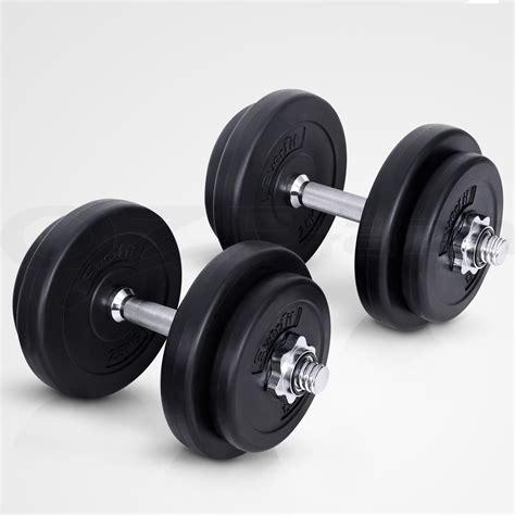 Plate Dumbbell everfit dumbbell set weight dumbbells plates home fitness exercise 20kg ebay
