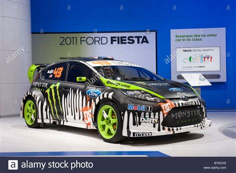 Auto Rally Usa by Ken Block S Ford Fiesta Rally Car At The 2011 North