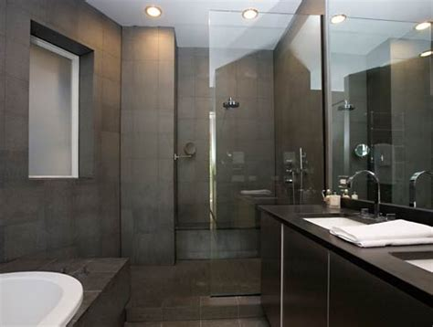 dark colored bathroom designs charcoal slate tile modern bathroom bellfia
