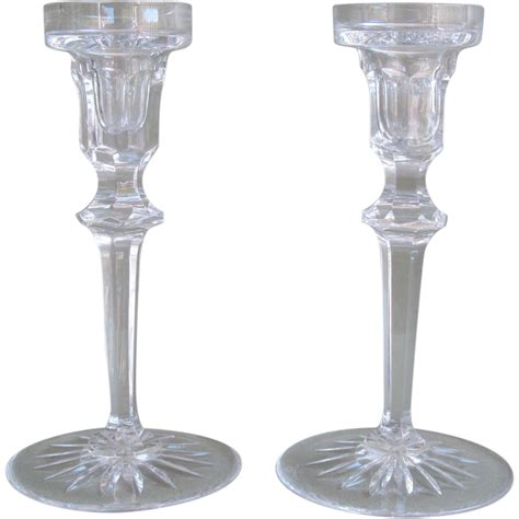 candlestick l crystal candlestick holders by rogaska from artgate on