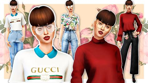 SIMS 4 GUCCI LOOKBOOK   CC LINKS   YouTube