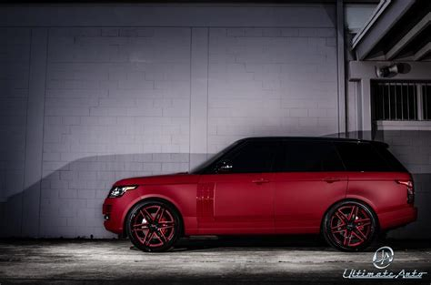 Matte Red Range Rover Celebrity Auto Edition By Ultimate Auto