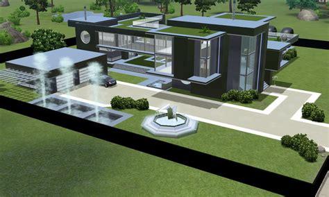 Treehouse Villas Floor Plan by Sims 3 Modern Black Futuristic Villa By Ramborocky On