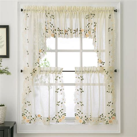 tiered kitchen curtains rosemary floral kitchen tier curtain