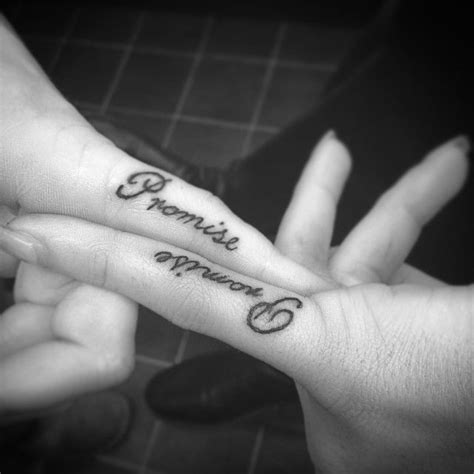 matching couple finger tattoos best 25 promise ideas on promise