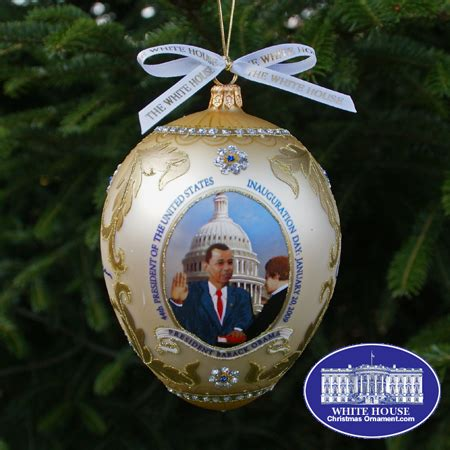 2009 barack obama administration christmas ornament