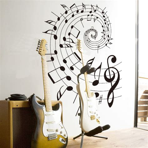Wallborder Sticker Dinding B1017 popular musical notes wallpapers buy cheap musical notes wallpapers lots from china musical