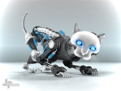 robo cat pose2 3d art cg gallery computer graphics