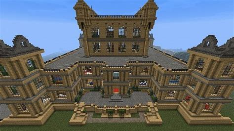 Feature Wall Bedroom by Wollaton Hall Bruce Wayne Batman Manor Minecraft Project