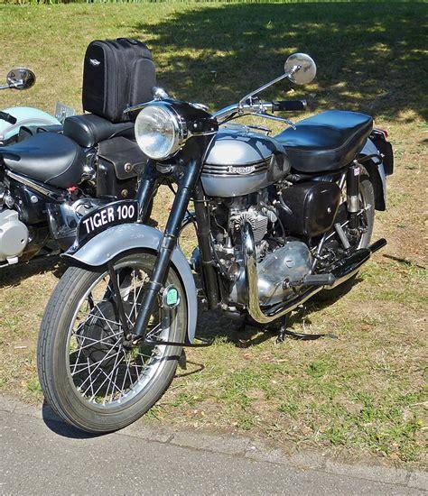 Triumph Motorrad Luxembourg by Triumpf Tiger 100 Aufgenommen Am 02 08 2015 Vintage