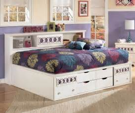Full Size Bed For Girls by Zayley Bookcase Storage Bed Full Size Bedroom Furniture