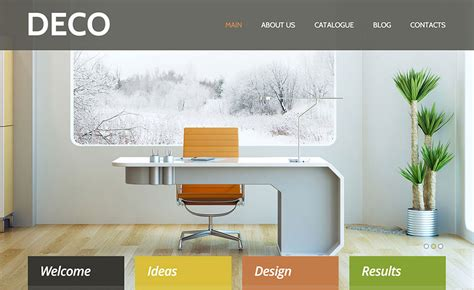 home decor website impressive website design