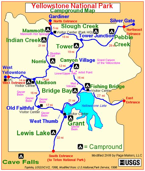 yellowstone park map yellowstone national park cground map yellowstone up and personal