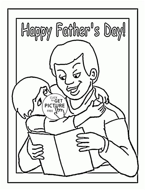 Perfect Fatherus Day Coloring Page For Kids Holiday International Tree Coloring Page