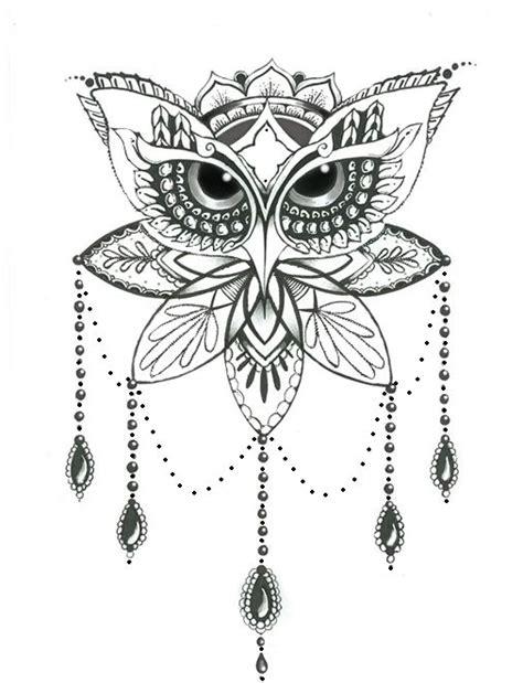 tattoo mandala coruja 25 melhores ideias sobre tatuagens de coruja no pinterest