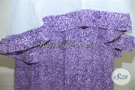 Celana Anak Kode 059 mukena batik warna ungu bahan atasan ungu bawahan katun